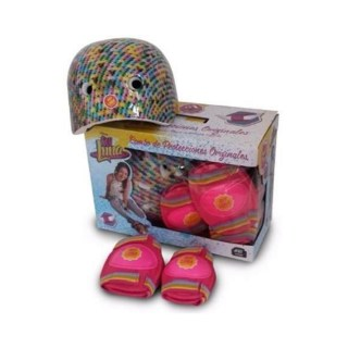 set casco con rosado